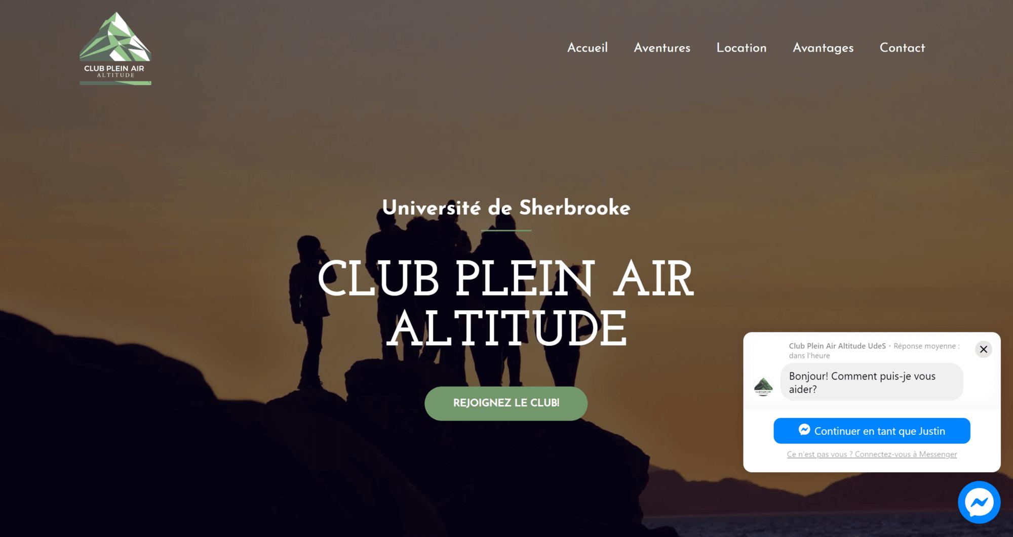 Outdoor's Club Website